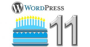 WordPress Geburtstag 11 Jahre