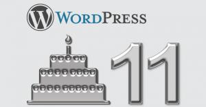 WordPress Geburtstag 11 Jahre CMS