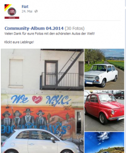 Beste Facebookseiten: Fiat