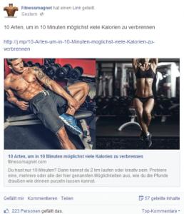 Beste Facebookseiten: Fitnessmagnet